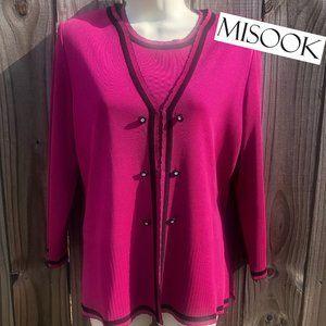 Exclusively Misook Cardigan Set S